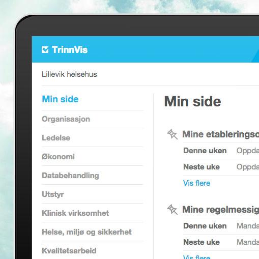 TrinnVis har fått et nytt og mer oversiktlig grensesnitt med tematisk organisering av dokumentene.